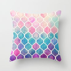 Rainbow Pastel Watercolo… Throw Pillow