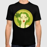 Selfie Girl_10 Mens Fitted Tee Black SMALL