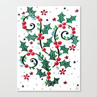 Christmas Curls Canvas Print