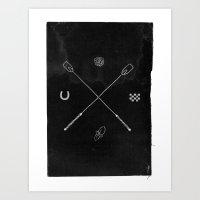 Derby X Art Print