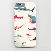 iPhone Cases featuring Sharks by Simon Alenius