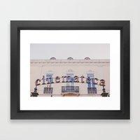 Cinemateca Framed Art Print