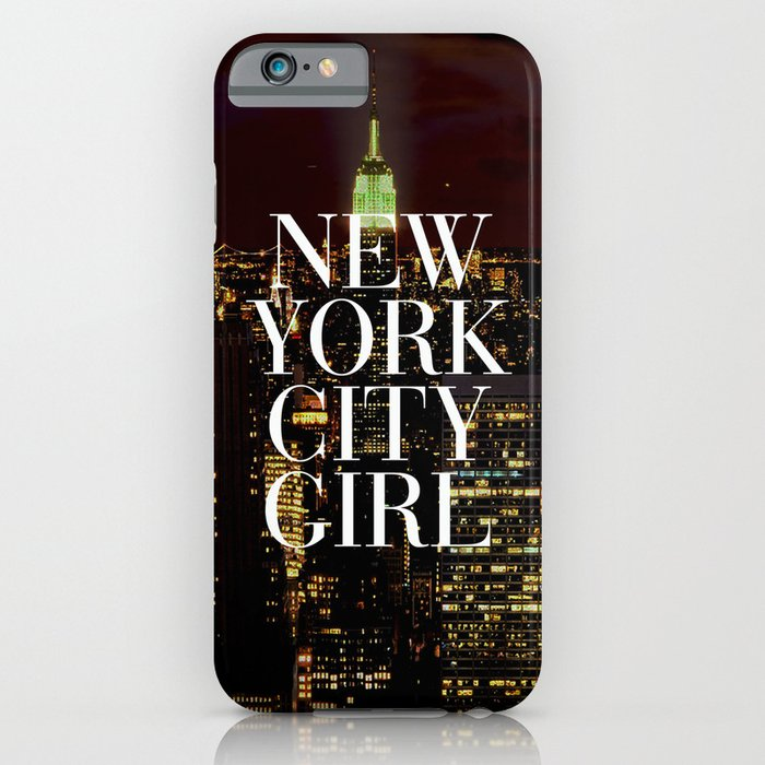 New york city girl manhattan skyline iphone ipod case for Case vacanza a new york manhattan