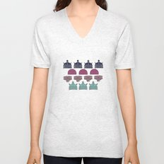 Robots don't like stairs (R2D2, Johnny 5 & The Dalek) Unisex V-Neck