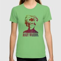 Andy Warhol Print Womens Fitted Tee Grass SMALL