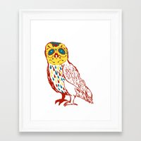 Sugar Skull Owl Framed Art Print