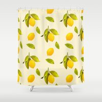 Lemon Pattern Shower Curtain