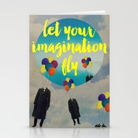 Vintage Quotes Collection -- Let Your Imagination Fly Stationery Cards