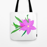 Flowers On The Wall  Tote Bag
