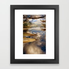 Reservoir Reflections Framed Art Print