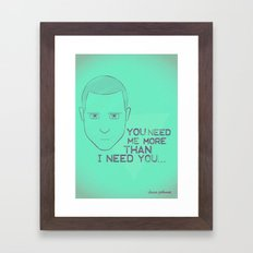 Breaking Bad - Faces - Jesse Pinkman Framed Art Print