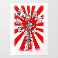 seppuku monster Art Print