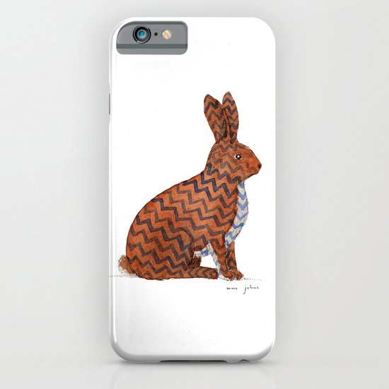 zig zag rabbit iPhone & iPod Case