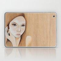 Self Portrait on Wood Laptop & iPad Skin