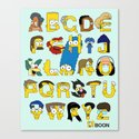 Simpsons Alphabet Canvas Print