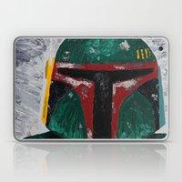 Boba Fett palette knife painting Laptop & iPad Skin