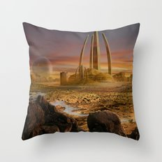 Red City Throw Pillow