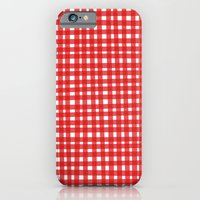 Red Gingham iPhone 6 Slim Case