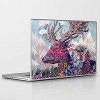 deer Laptop & iPad Skins featuring Journeying Spirit (deer) by Mat Miller
