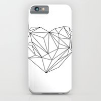 iPhone & iPod Case featuring Heart Graphic (black on white) by Mareike Böhmer Graphics