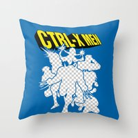 Ctrl-X Men Throw Pillow