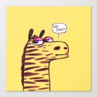Purple Zebra :) Canvas Print