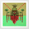 pineapple architecture 2 Art Print