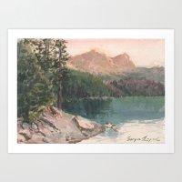 Sierra Buttes in August Art Print