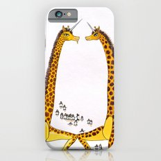 Unicorn Giraffes Dancing with Penguins iPhone 6 Slim Case