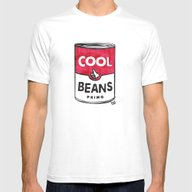 Cool Beans—Pattern! Mens Fitted Tee White SMALL