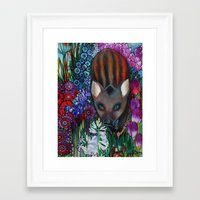 wild boar Framed Art Print