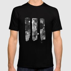 Three Worlds Black Mens Fitted Tee SMALL