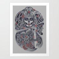 Madame Death Art Print