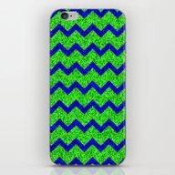 iPhone & iPod Skin featuring Chevron Glitter Pattern … by Aloke Design