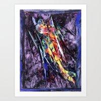 Encaustic Texture Experi… Art Print