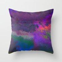 66-63-18 (Universe Rising Glitch) Throw Pillow