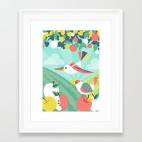 Summer Orchard Framed Art Print