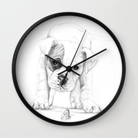 Patch, A Boxer Puppy :: … Wall Clock
