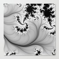 Black and White Fractal 5 Canvas Print