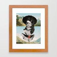 Collage #13 (Landslide) Framed Art Print
