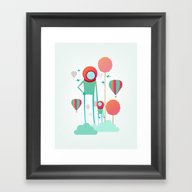 Framed Art Print featuring Cosmic Care by Iolak