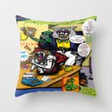 Bird of Steel Comix - Page #5 of 8 (Society 6 POP-ART COLLECTION SERIES)  Throw Pillow