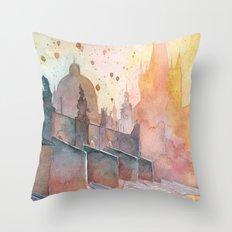 Charles Bridge, Prague Throw Pillow