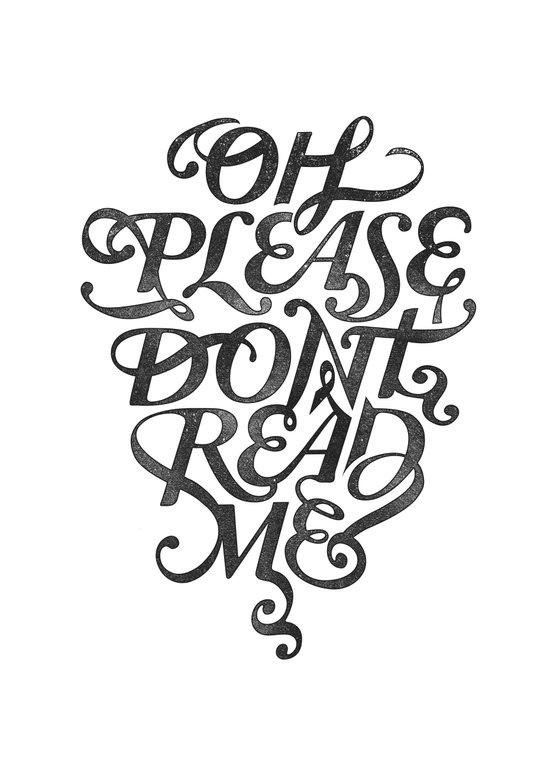 Please Don't (white version) Art Print
