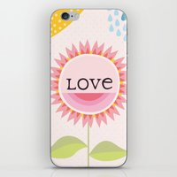 Flower Love iPhone & iPod Skin