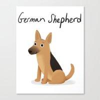 German Shepherd - Cute Dog Series Canvas Print