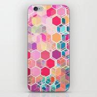 Rainbow Honeycomb - Colo… iPhone & iPod Skin