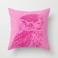 Pinkowl Throw Pillow