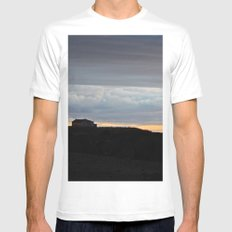 The Edge of Land Mens Fitted Tee White SMALL