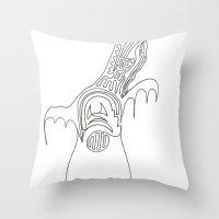Doodle Moose Throw Pillow